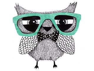 Smart Cool Tutoring Owl