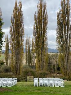 Wedding Ceremony set up at Mutton Falls