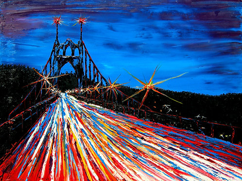 Blue Night Of St. Johns Bridge