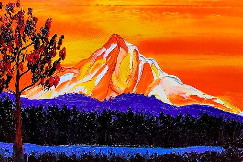 Orange Dusk Mount Hood #2