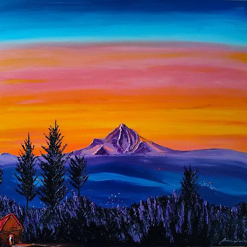 Dusk Colors Of Mount Hood
