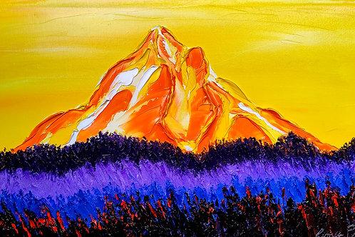 Yellow Dusk Mount Hood