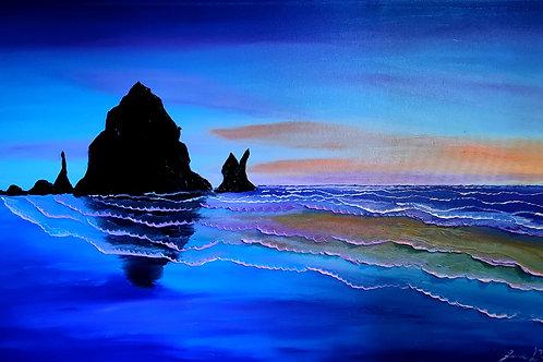 Blue Dusk Of Cannon Beach