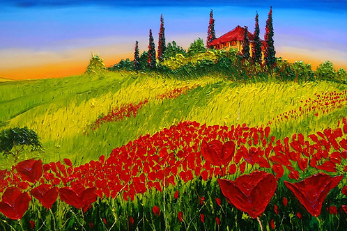 Red Poppies Of Tuscany