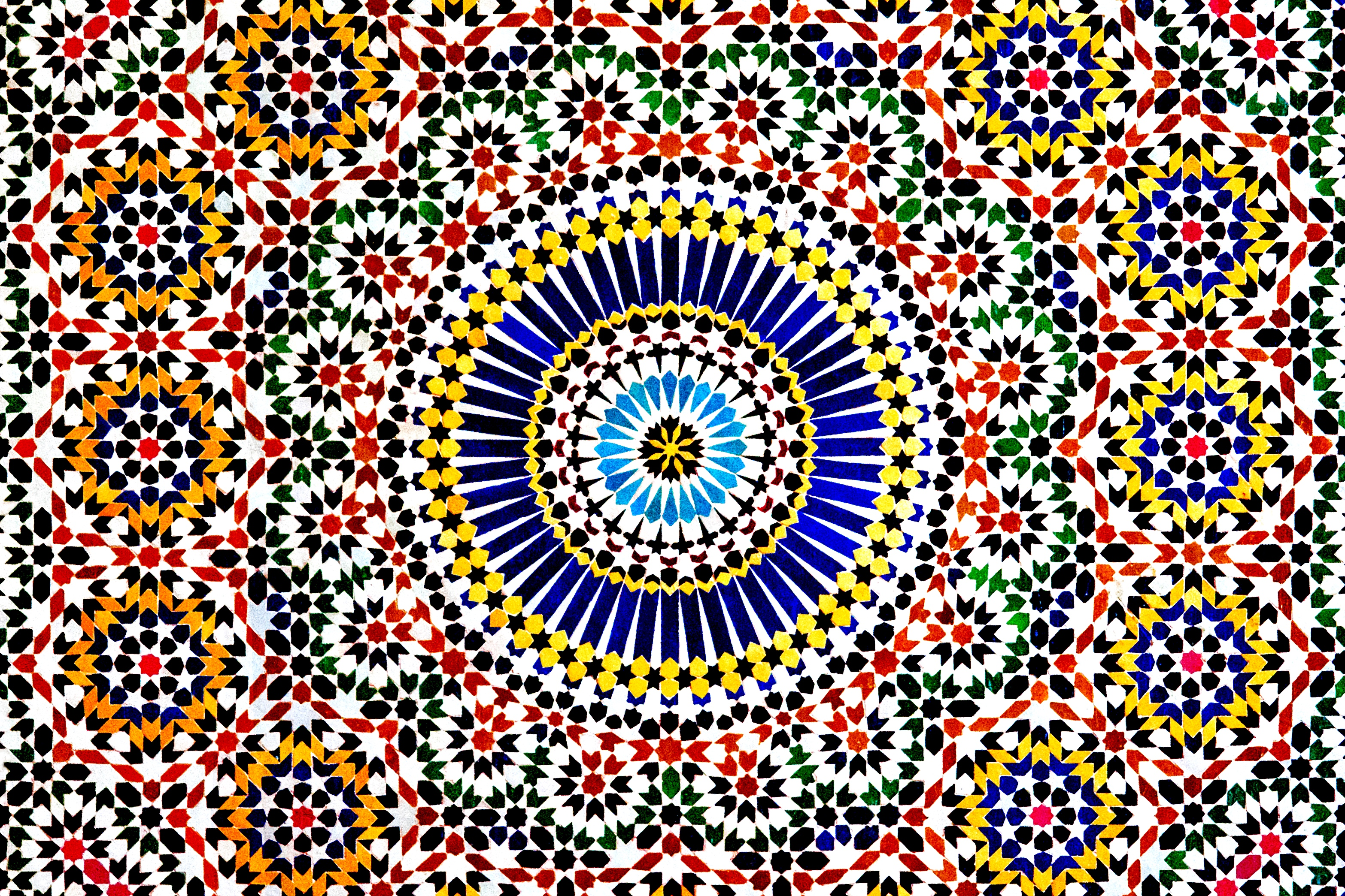 Circular Islamic mosaic