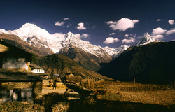 Annapurna and Fishtail from lodge Final