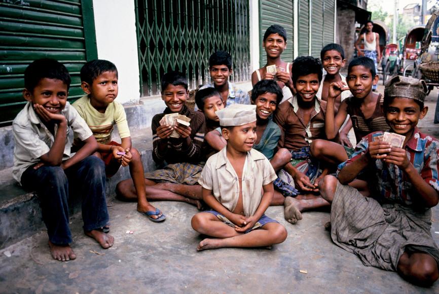 Street kids, Chittagong, Bangladesh,