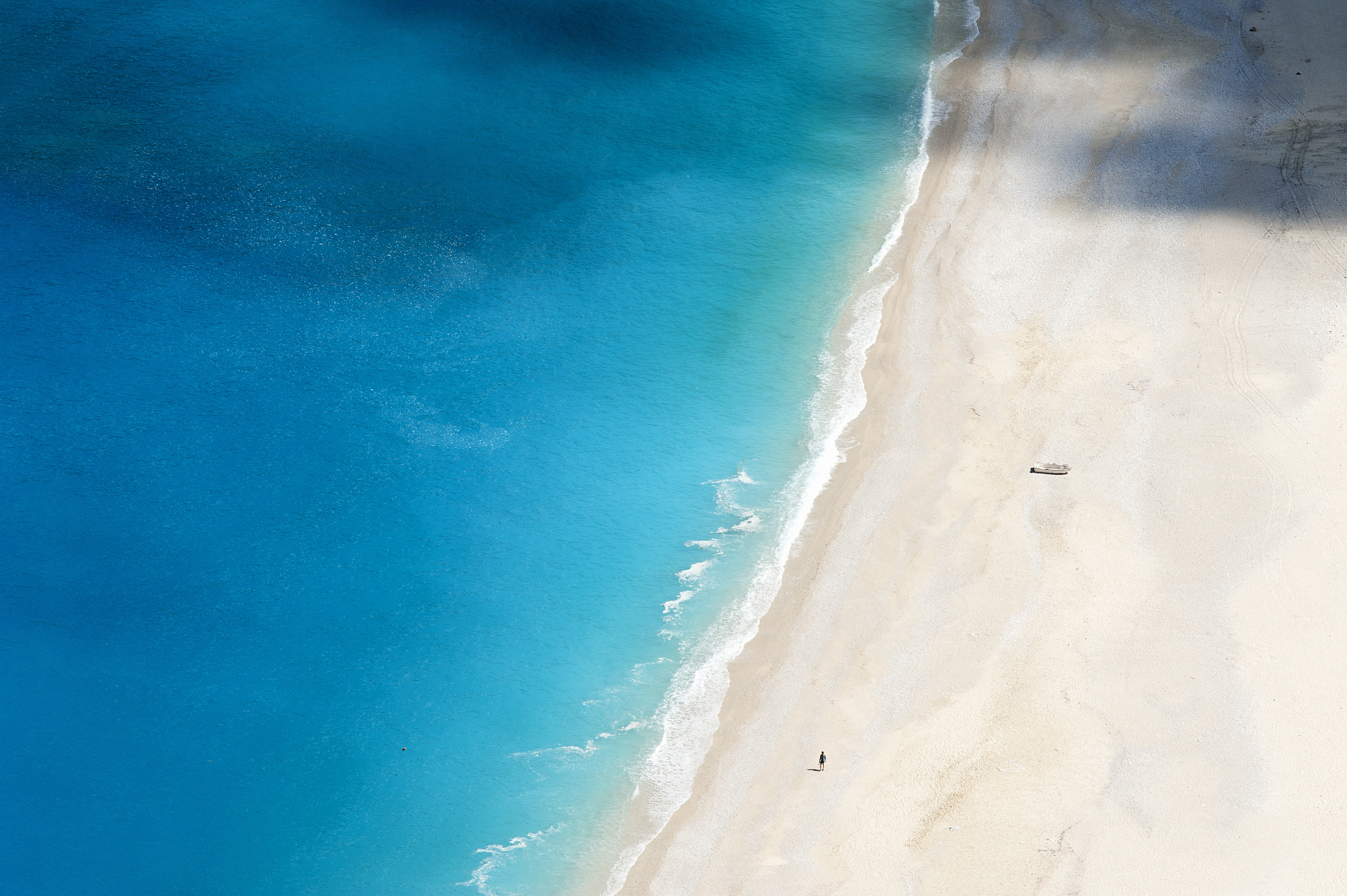 Solitary figure on Myrtos Beach