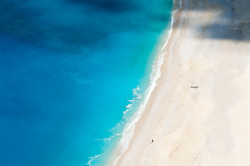 Solitary figure on Myrtos Beach