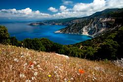 Myrtos Bay Spring Landscape