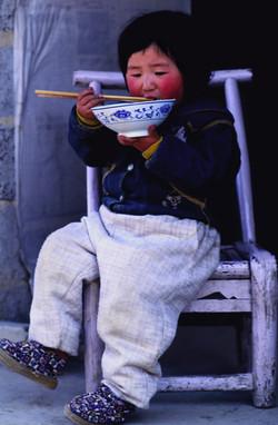 China girl eating noodles Final