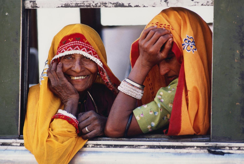 Rajasthani Women at Train Window