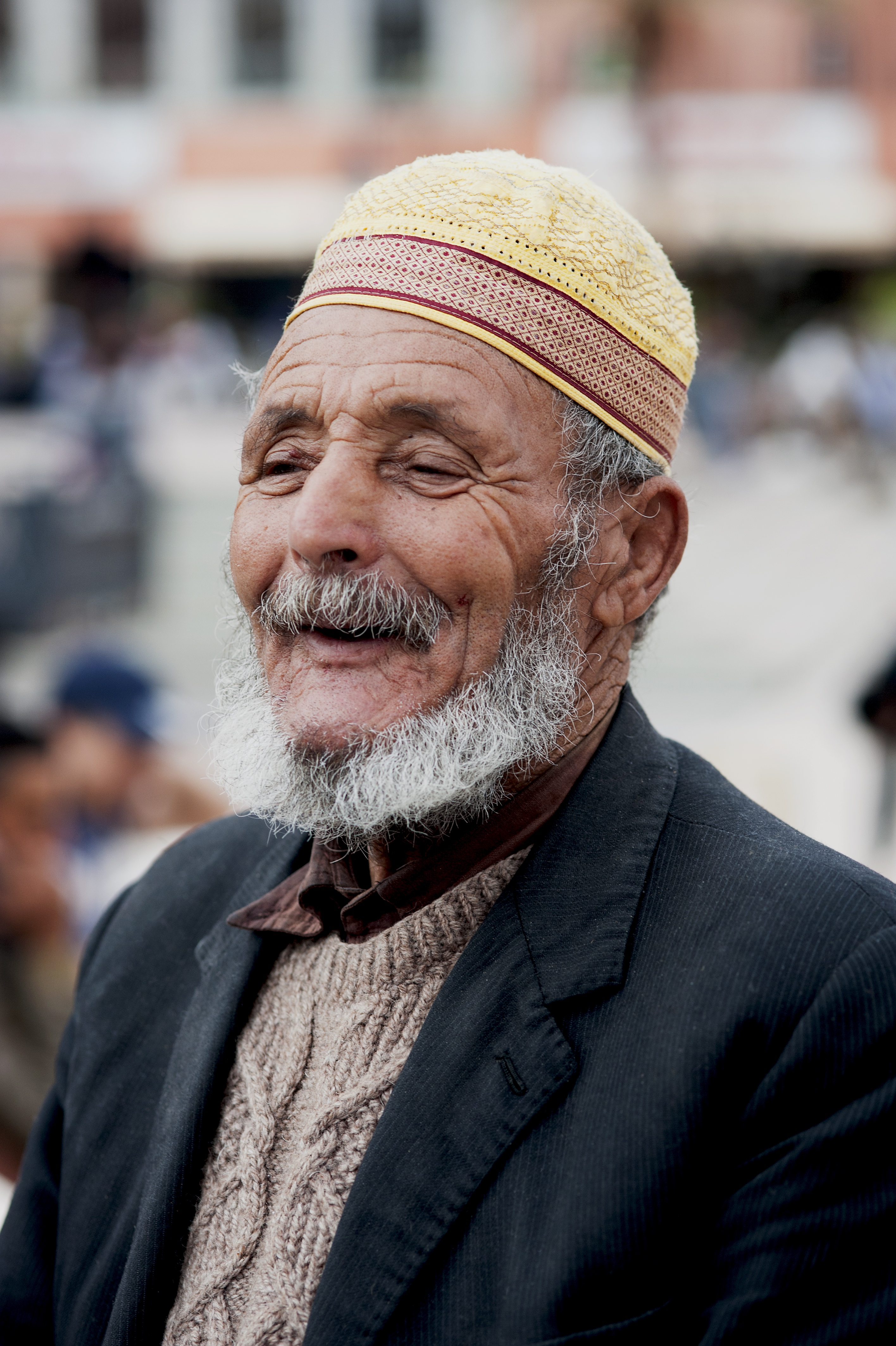 Moroccan man with yellow hat