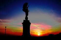 Sunset Peace Statue