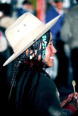 Tibetan woman with lollipop Final