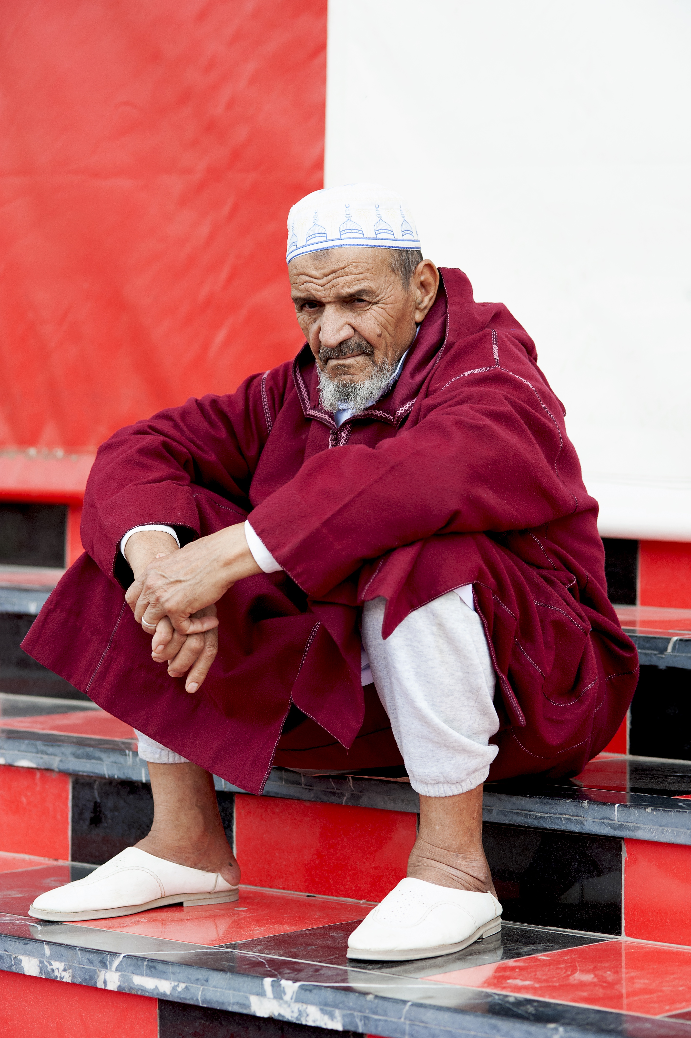 Red & White Moroccan man