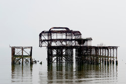 West Pier white out