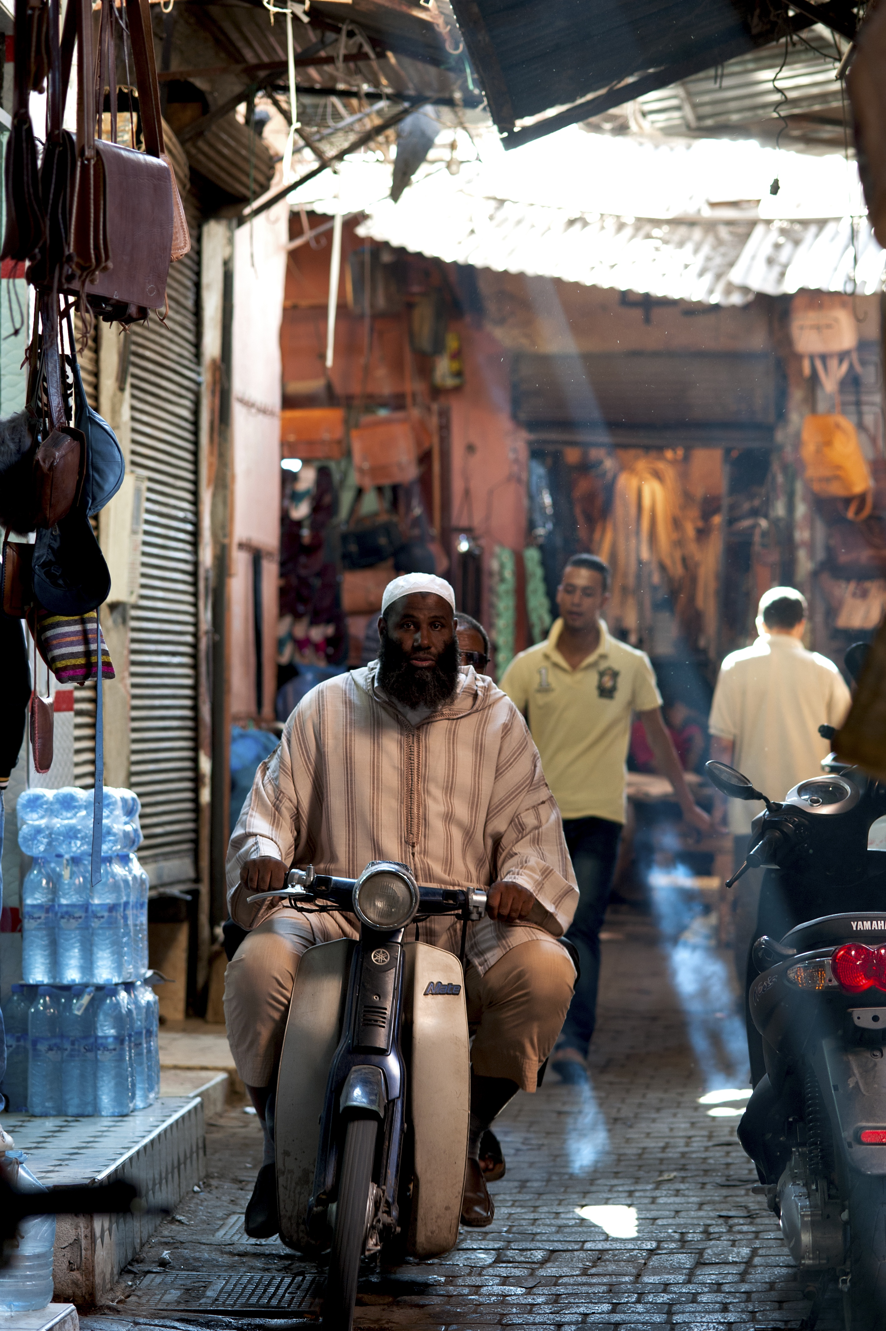 Scooter in the Souk, Marrakesh