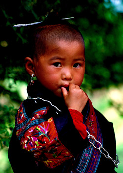 Miao Girl with Silver Topknot