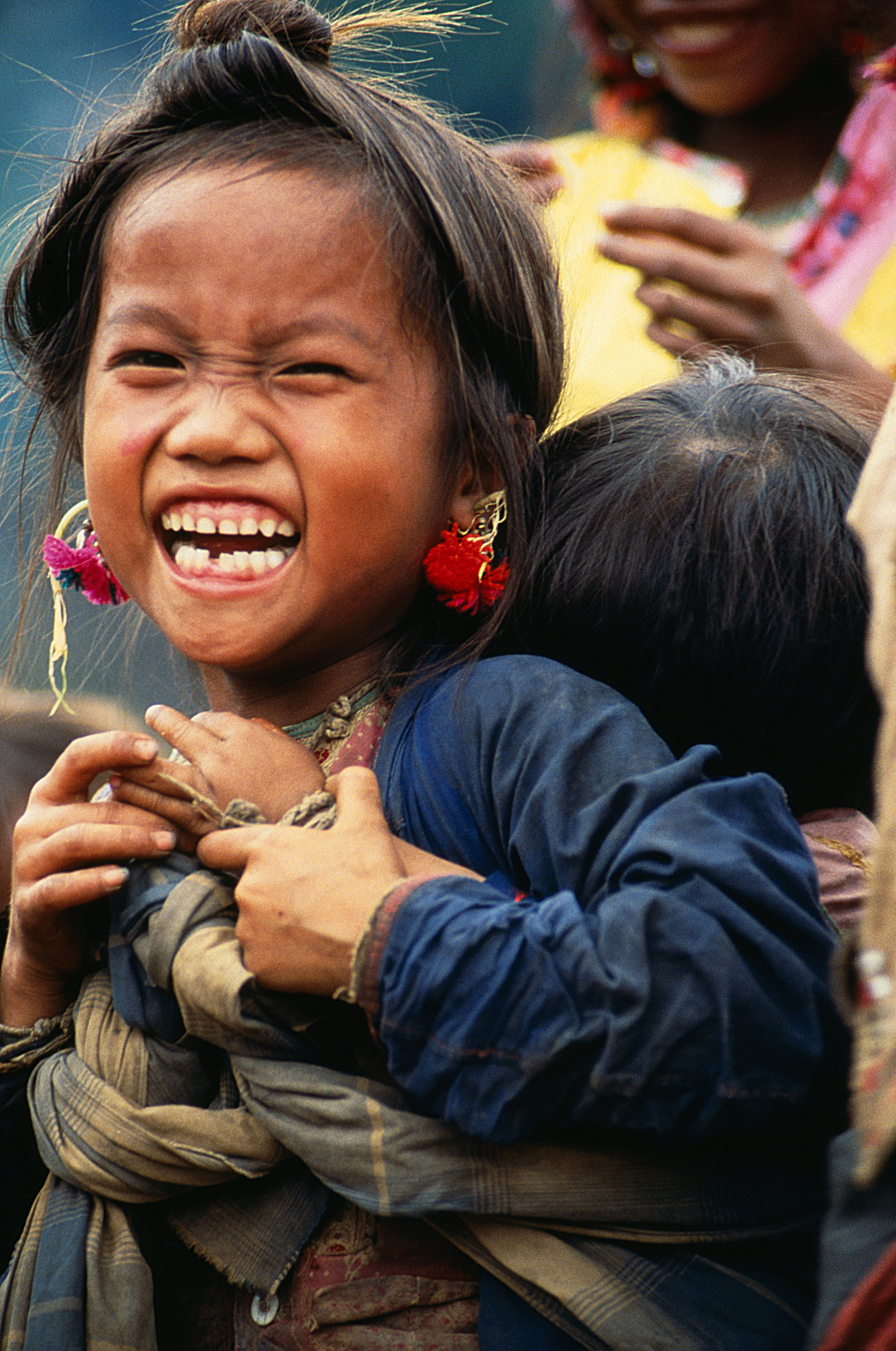 Laughing Girl from the Bulang Tribe