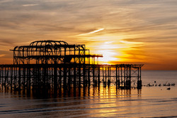 West Pier sunsetting