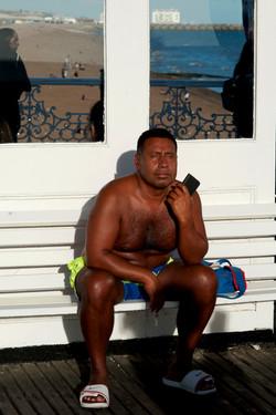 Pier sunbather