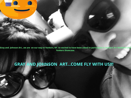 Gray and Johnson hit the blog scene...come following along. Heading to Yonkers, NY.