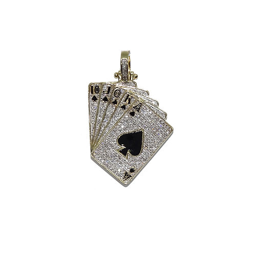 CARDS GOLD / DIAMONDS PENDANT