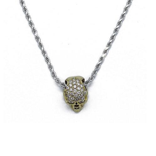 SKULL GOLD/DIAMOND PENDANT