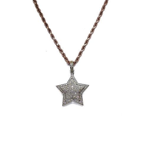 STAR DIAMOND/GOLD PENDANT