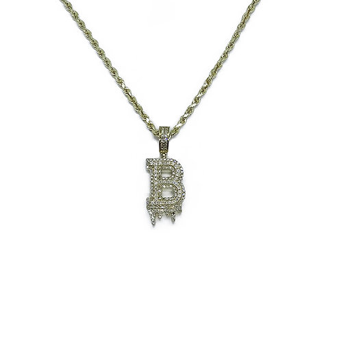 LETTER GOLD/DIAMOND PENDANT - ALL LETTERS AVAILABLE