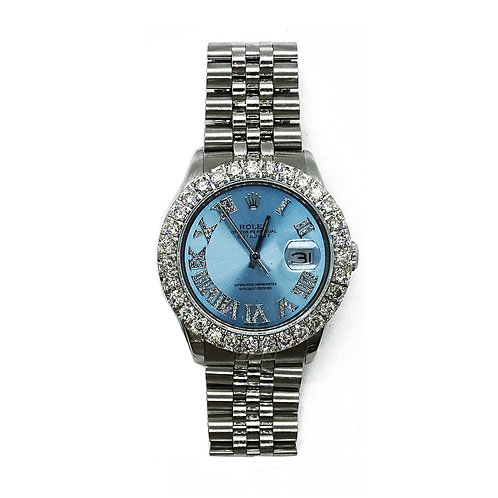 ROLEX OYSTER PERPETUAL DATEJUST 6.55ct DIAMOND 36mm