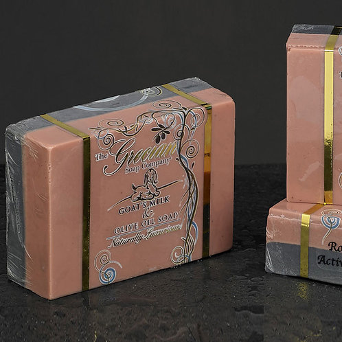 Rose Clay With Activated Charcoal Goats Milk Soap