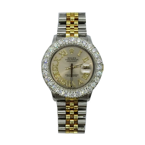 ROLEX OYSTER PERPETUAL DATEJUST 6.77ct DIAMOND 36mm