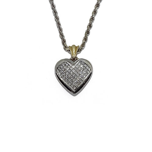 HEART GOLD / DIAMONDS PENDANT