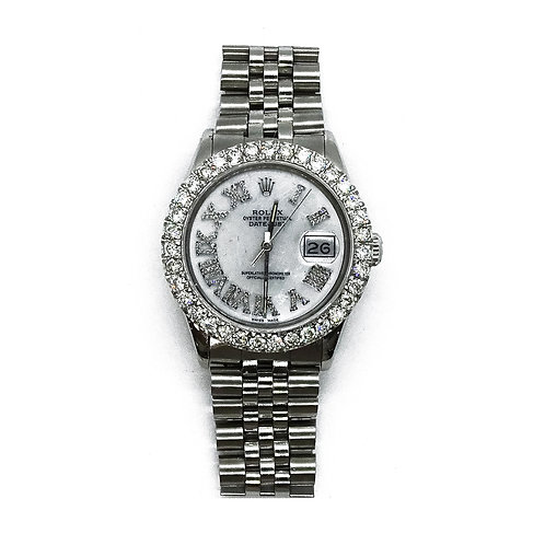 ROLEX OYSTER PERPETUAL DATEJUST 4.55ct DIAMOND 36mm