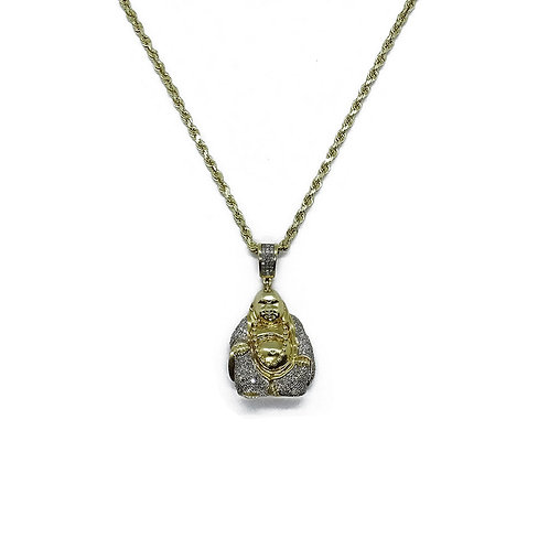 BUDDHA GOLD/DIAMOND PENDANT