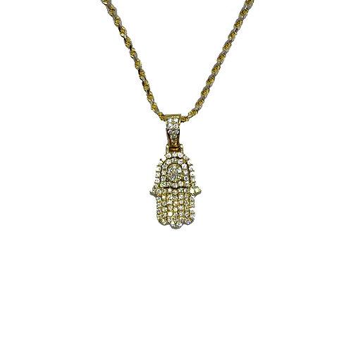 HAMSA ANCHOR GOLD / DIAMONDS PENDANT