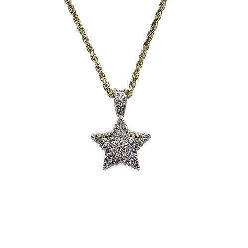 STAR GOLD / DIAMONDS PENDANT