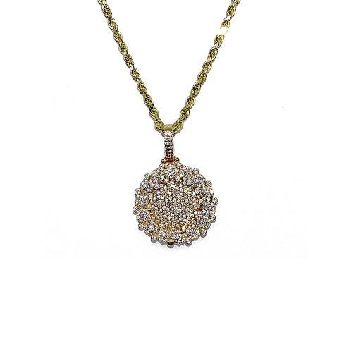 ROUND GOLD / DIAMONDS PENDANT