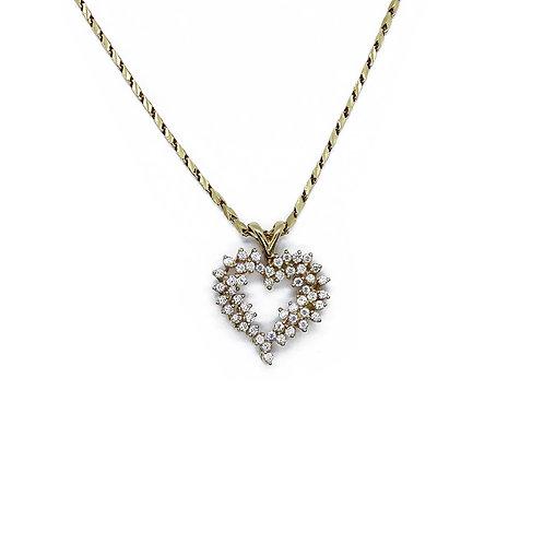 HEART GOLD/DIAMOND PENDANT