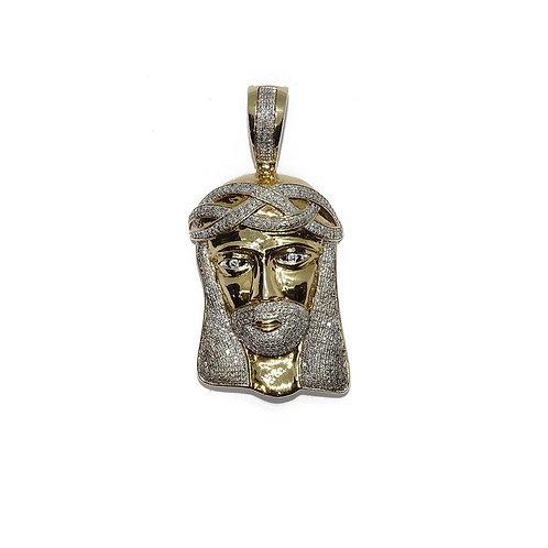 JESUS GOLD/DIAMOND PENDANT