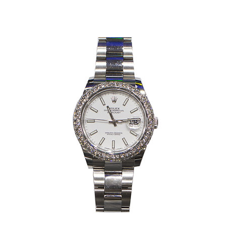 ROLEX OYSTER PERPETUAL DATEJUST II 4.48ct DIAMOND 41mm