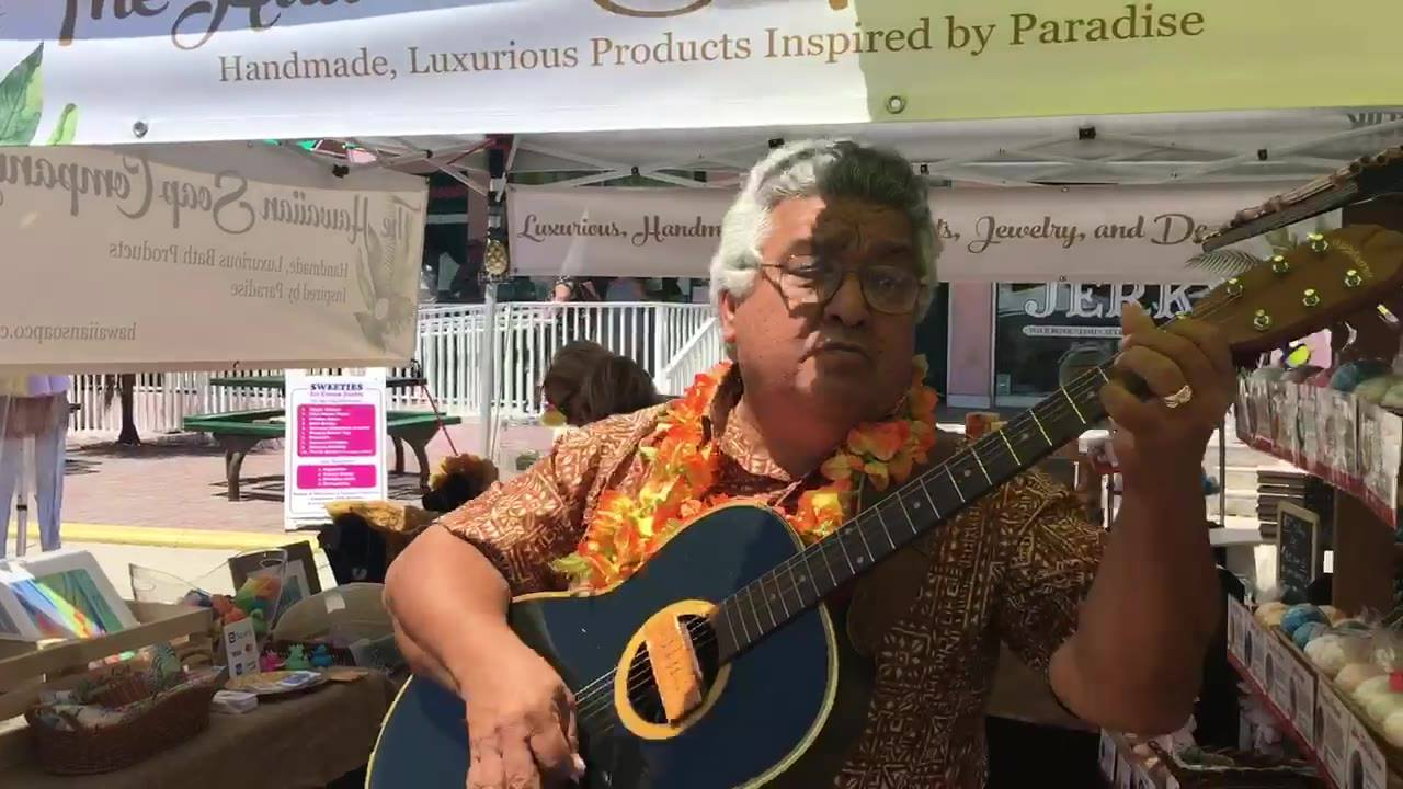 Every time we appear at a show, it seems we get the great fortune of having an extremely talented person or group perform for us. Today was a special one! A Hawaiian friend stopped by to serenade us and passersby who loved every second of it and danc