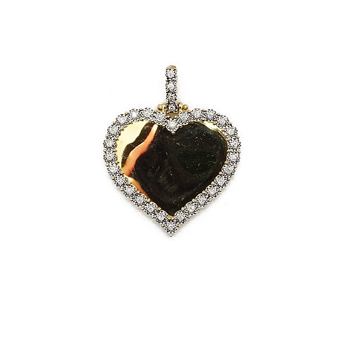 HEART GOLD/DIAMOND PICTURE PENDANT