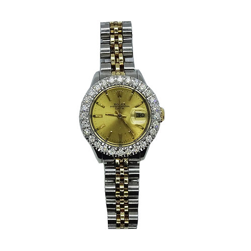 ROLEX OYSTER PERPETUAL LADIES DATEJUST 3.5ct DIAMOND 26mm