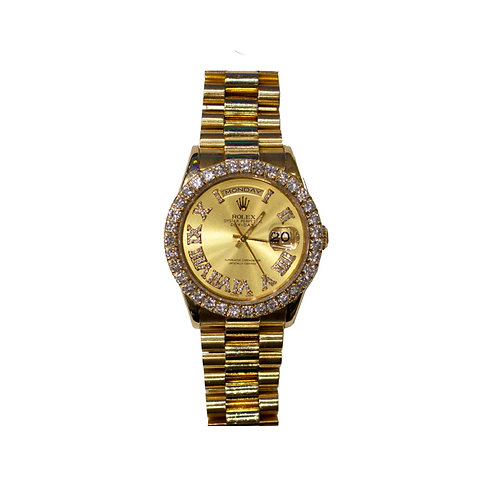 ROLEX OYSTER PERPETUAL DAY-DATE 4.5ct DIAMNOND 36mm