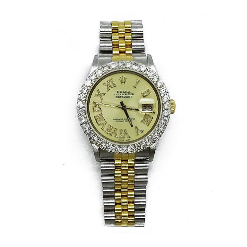 ROLEX OYSTER PERPETUAL DATEJUST 6.0ct DIAMOND 36mm