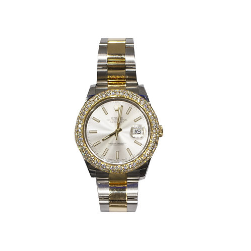 ROLEX OYSTER PERPETUAL DATEJUST II 5.55ct DIAMOND 41mm