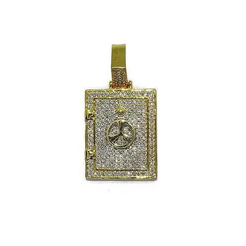 DOGTAG GOLD/DIAMONDS PENDANT